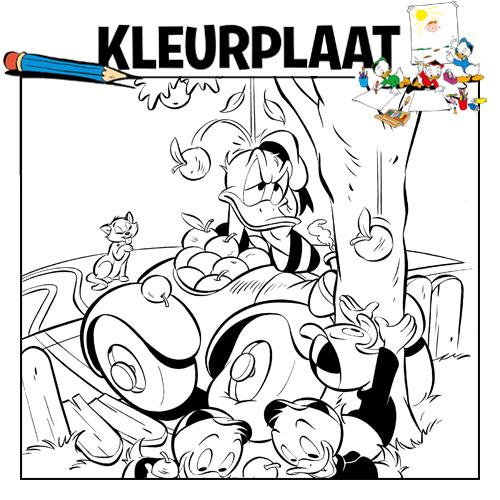 Kleurplaten Van Oud En Nieuw.Kleurplaat Oud En Nieuw Donald Duck