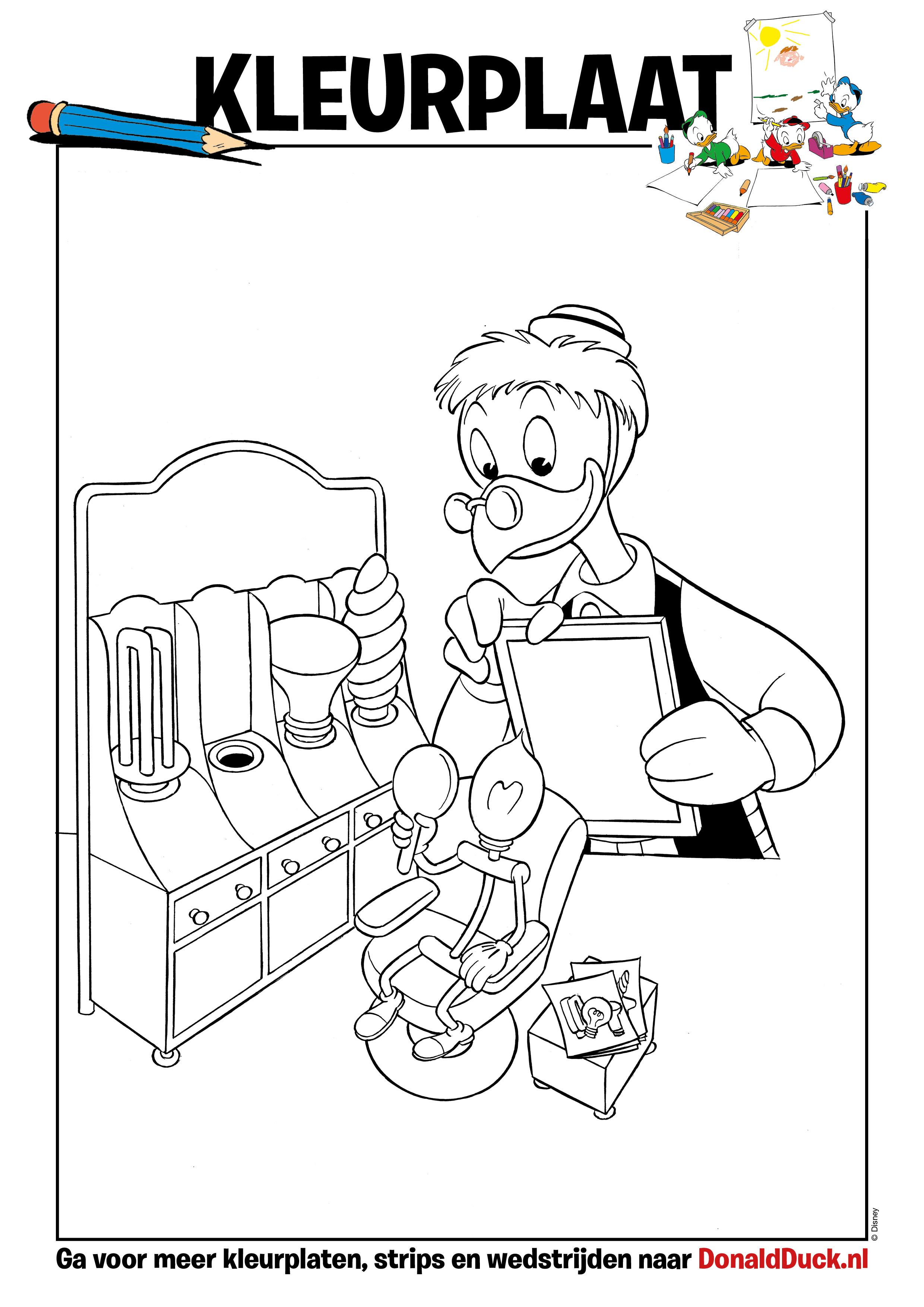 Donald Duck Junior Kleurplaten.Kleurplaat Willie En Lampje Donald Duck