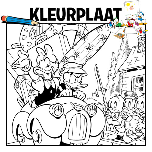 kleurplaten archive donald duck
