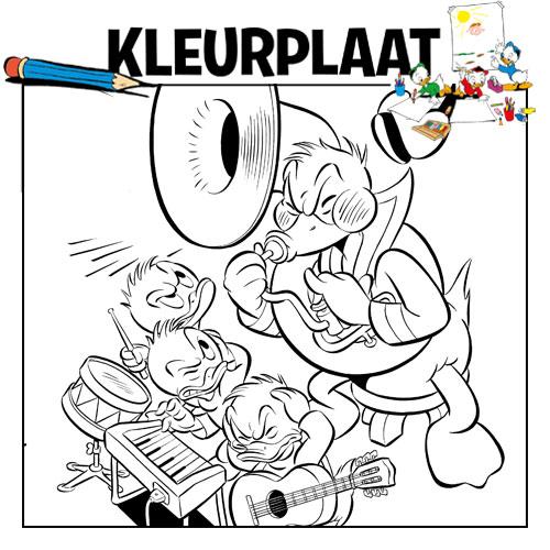 Kleurplaten Oud En Nieuwjaar.Kleurplaat Oud En Nieuw Donald Duck