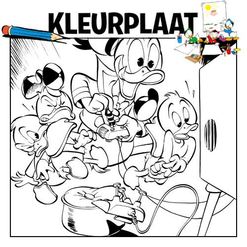 Kleurplaten Donald Duck Gezicht.Kleurplaten Donaldduck Nl